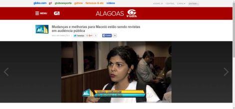 Imagem da reportagem da TV Gazeta sobre a 1ª audiência de revisão do Plano Diretor de Maceió
