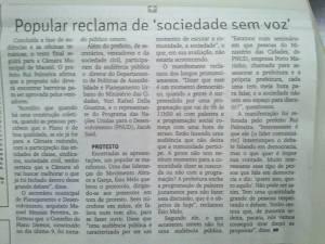 Matéria da Gazeta