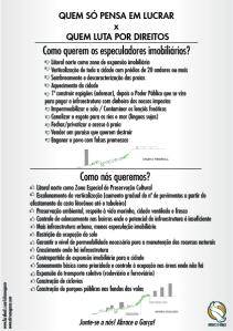 Panfleto sobre o PlanoDiretor