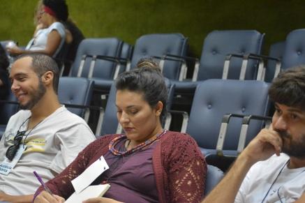 Ésio, Cynara e Bruno, parte dos membros do Abrace a Garça presentes na audiência